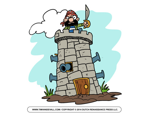 Pirate Fortress Clip Art
