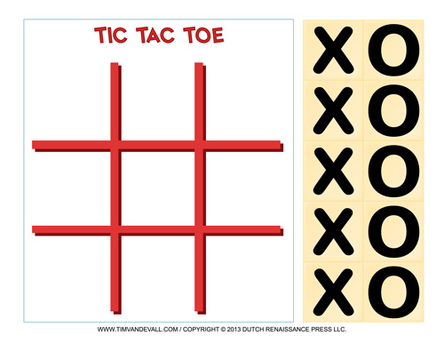 Printable Tic Tac Toe Game
