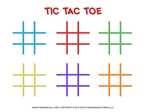 Tic-Tac-Toe Templates
