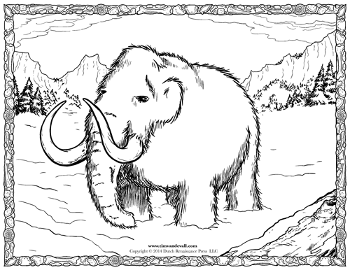 Woolly Mammoth Coloring Pages