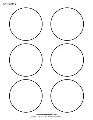 3 inch diameter circle