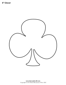 Printable Shamrock Shape