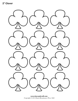 graphic relating to Printable Shamrock Template named shamrock templates -
