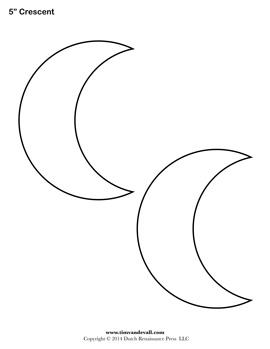 Blank Crescent Stencil