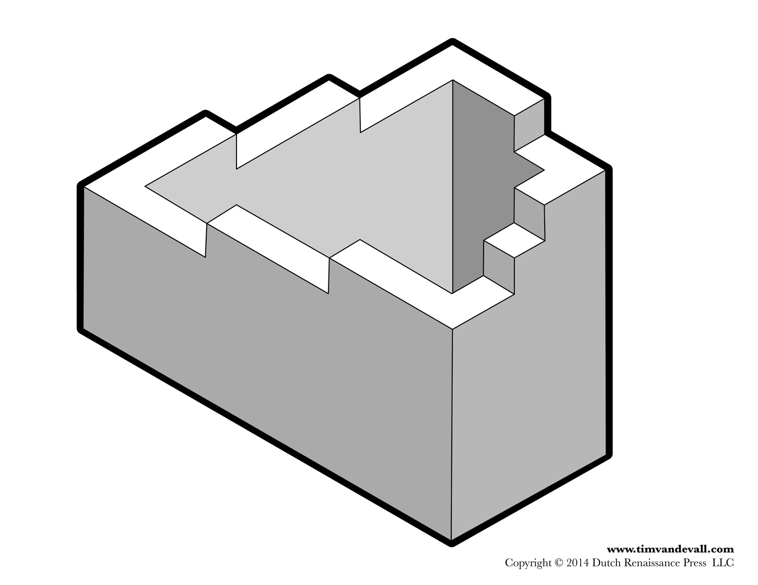 Penrose Stairs Endless Staircase Printable Optical Illusions