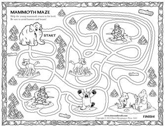 blank maze for kids