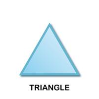 Triangle Geometric Shape Templates