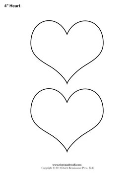 4 Inch Heart Blank Stencil