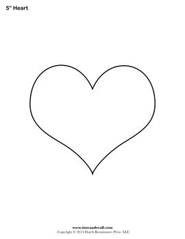 Blank Heart Stencil
