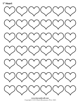 Free printable heart templates – large, medium & small stencils to.