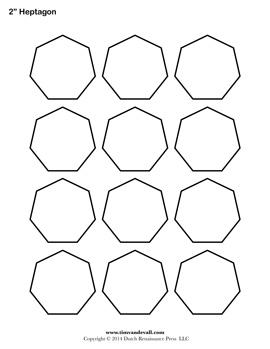 Printable Heptagon Outline