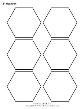 Printable Hexagon Templates