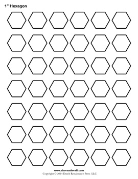 Blank Hexagon Template