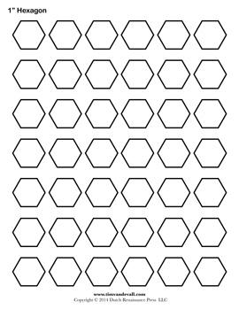 Blank Hexagon Template