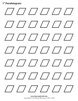 Blank Parallelogram Template