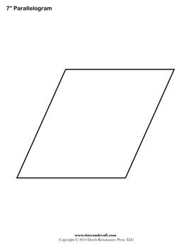 Free Printable Parallelogram