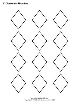 Printable Diamond Outline