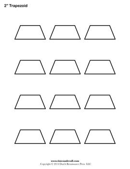 Printable Trapezoid Outline