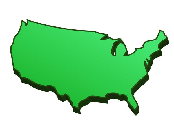 Blank USA Map