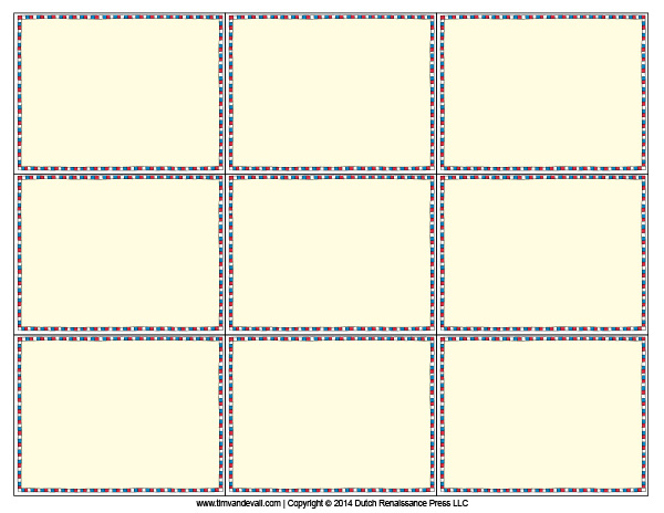 Printable Flash Card Template