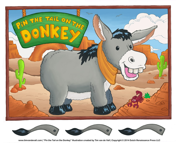 Pin the Tail on the Donkey Printable