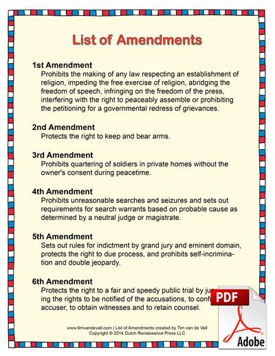 list of amendments pdf