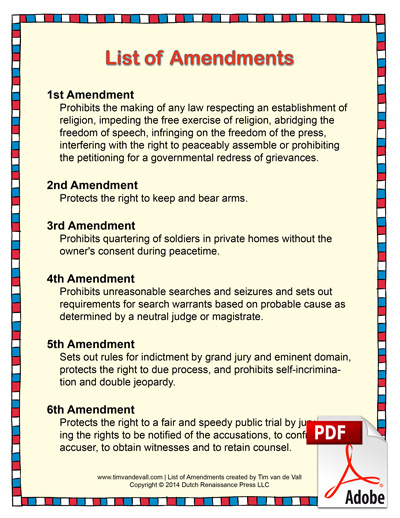 list of amendments pdf