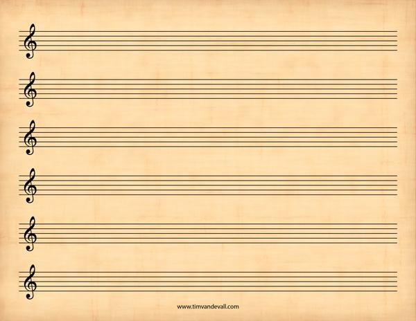 Free Sheet Music Template PDF