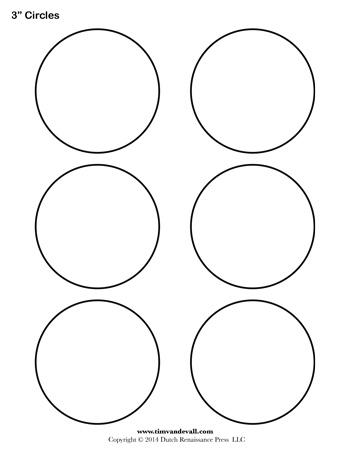 Circle Template 3 Inch Tim S Printables