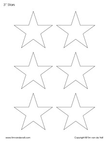 3 inch star template shapes