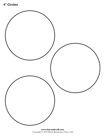 Dynamic image in printable circle template