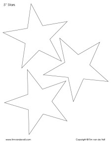 printable 5 inch star outlines
