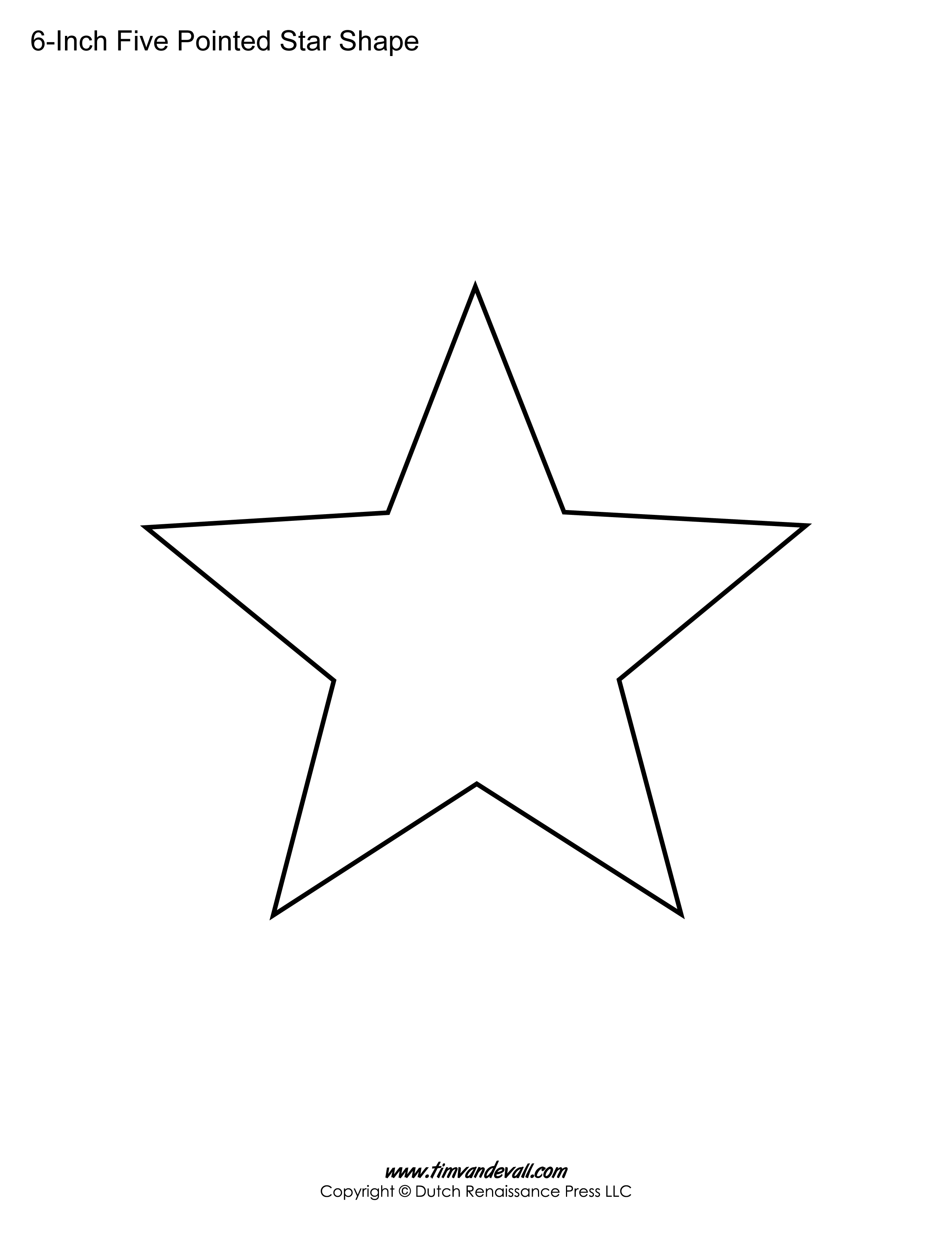 Captain America 4 Inch Star Template