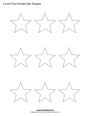 5 sided stars