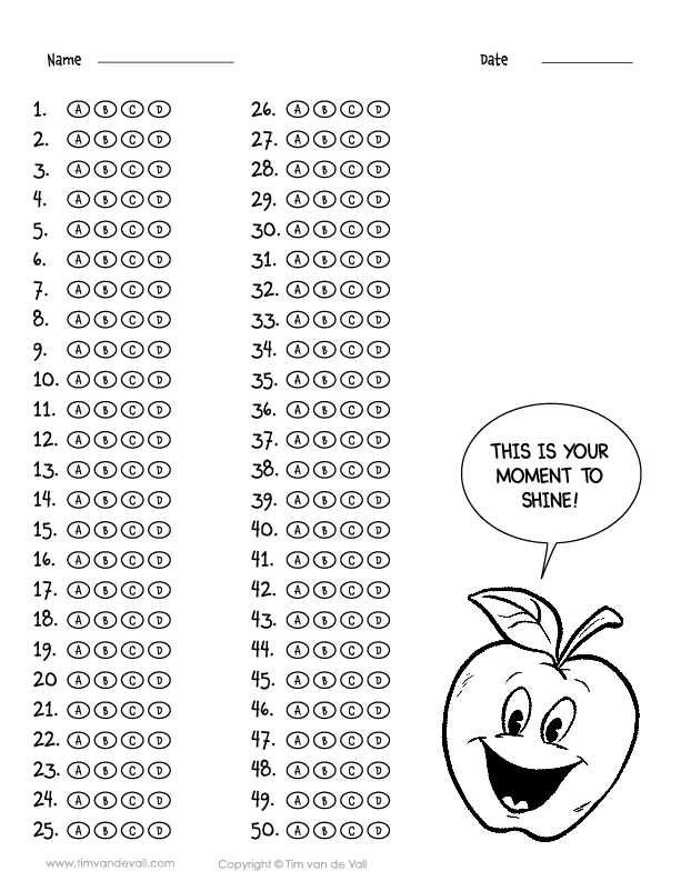 It is a picture of Current Free Printable Scantron Bubble Sheet