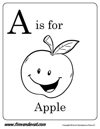 apples coloring pages for preschoolers - photo#40