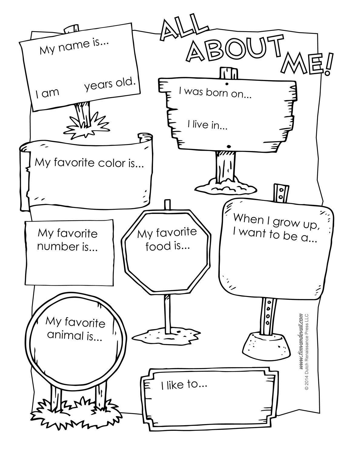 Printable All About Me Poster Amp All About Me Template