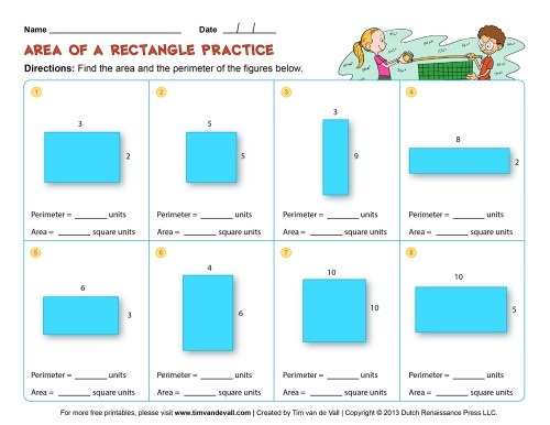 small resolution of Area-and-Perimeter-Worksheet-02-Color - Tim's Printables