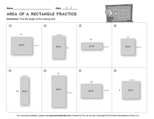 small resolution of Area-and-Perimeter-Worksheet-03-BW - Tim's Printables