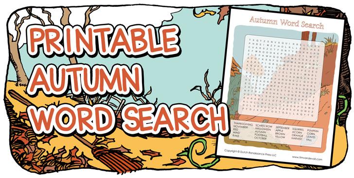fall printables for kids
