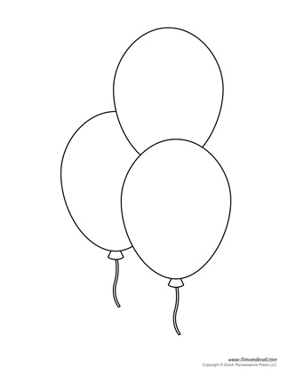 Astounding image with balloon templates printable