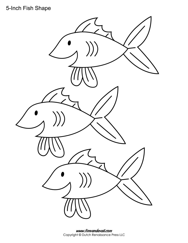 Printable Fish Templates For Kids