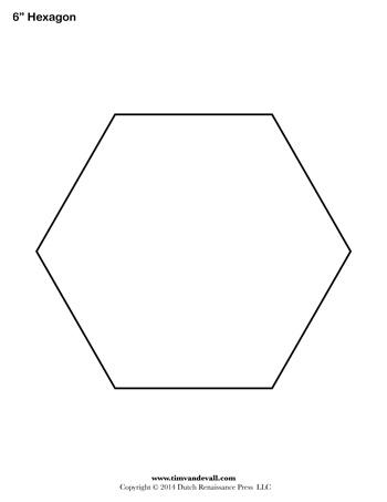 Hexagon Template 6 Inch Tim Van De Vall
