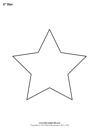 Star Template - 6 Inch