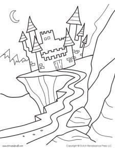 Castle Coloring Page #1