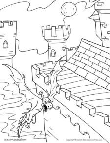 Castle Coloring Page #2