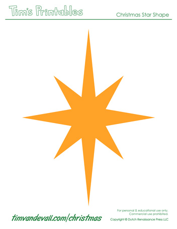 free christmas star template