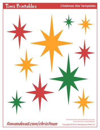 printables christmas star templates