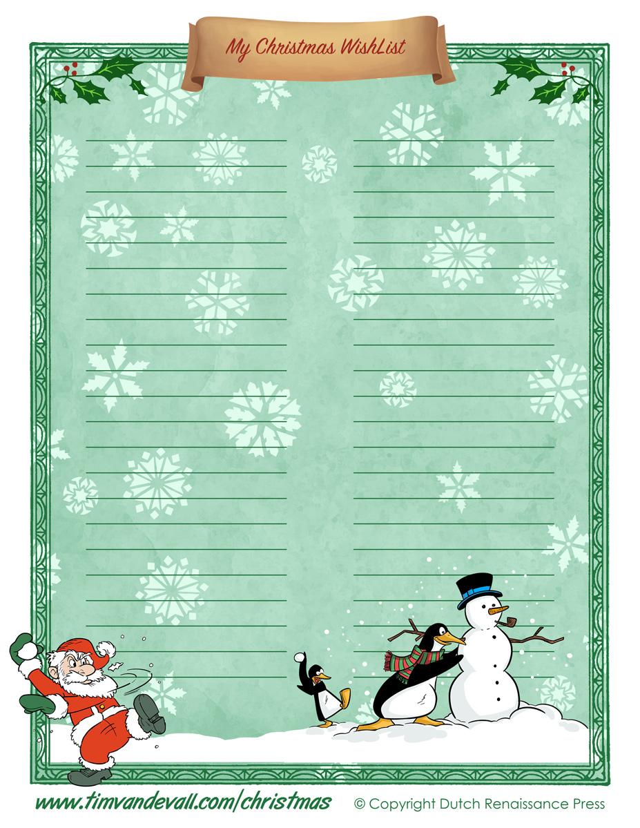 Christmas Wishlist 02 Tim S Printables