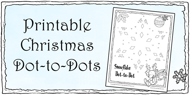 Christmas Dot To Dot For Kids